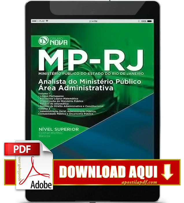 Apostila MP RJ 2016 Analista Administrativo PDF Download