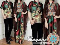 baju couple Hayani coklat 180.000 matt batik sutra+seruti impor lapis furing cow Ld 102 pj 70 cew Ld 100 pj 138