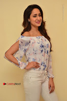 Actress Pragya Jaiswal Latest Pos in White Denim Jeans at Nakshatram Movie Teaser Launch  0014.JPG
