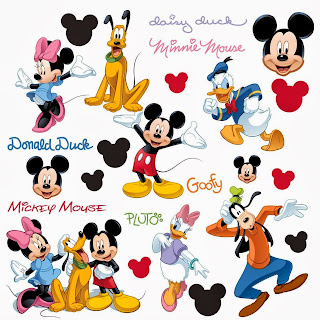 Roommates Rmk1507Scs Mickey And Friends Peel & Stick Wall Decal, 30 Count