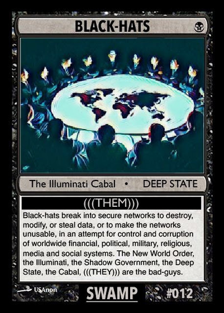 Collectable Q Anon Card Deck -- For the Avid Freedom Fighter! 12%2BBlack-Hats