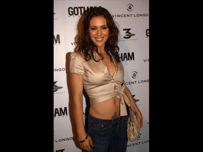 Tattoos Alyssa Milano Tattoos Picture Cross And Butterfly