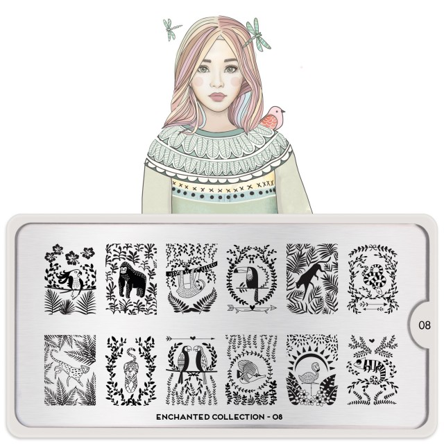 Lacquer Lockdown - MoYou London, Enchanted Collection, new stamping plates 2015, nail art stamping, children's books nail art, stamping plates, nail art, cute nails