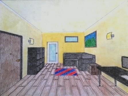 Sessantaseinblog stanze in prospettiva centrale for Disegnare una stanza in 3d