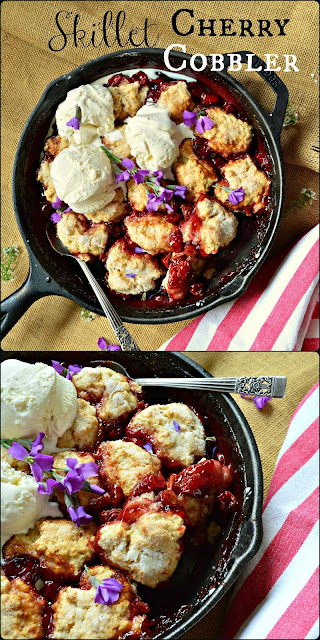 Cherry Recipes, Skillet Desserts, Cobbler
