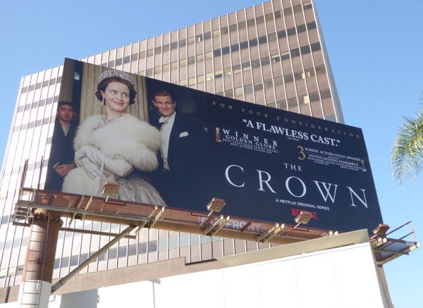 Crown SAG Awards 2017 consideration billboard