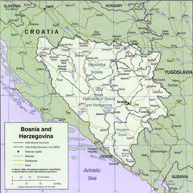 image: Bosnia and Herzegovina political Map