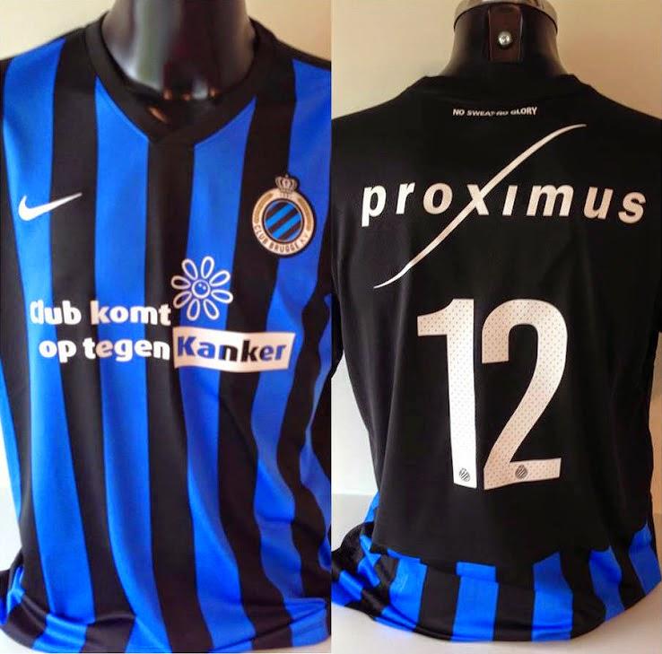 Este es el nuevo Club Brugge 2014-15 Camiseta de Nike. Club Brugge 14-15 de  local es de rayas negro y azul 7c3b59f7048db