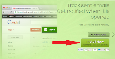 install rightinbox and track your mails