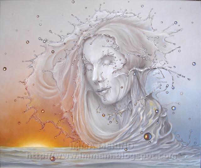sirena, blog  arte, oil painting