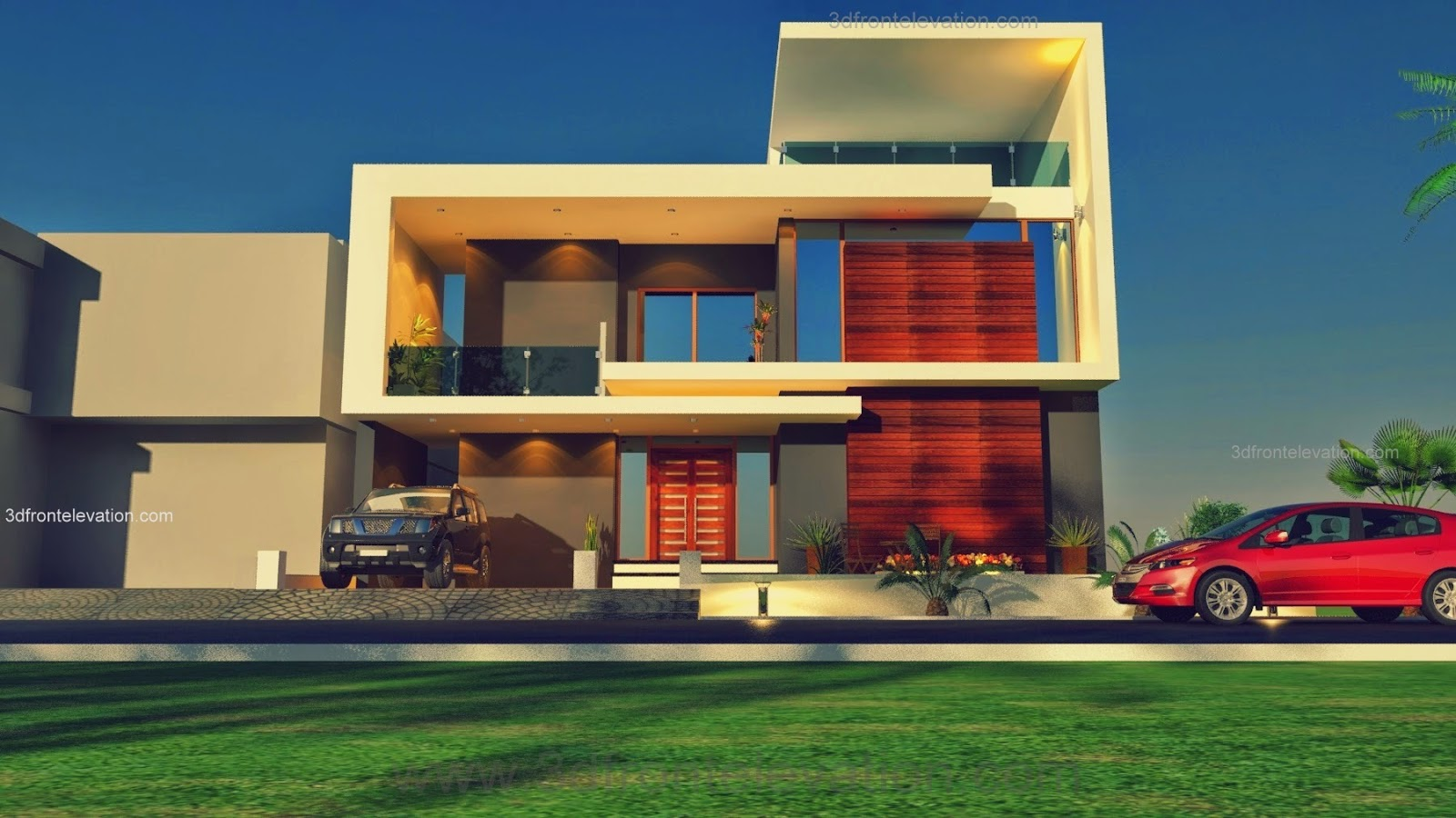 3D Front Elevation.com: Beautiful Pakistani 1 Kanal Modern