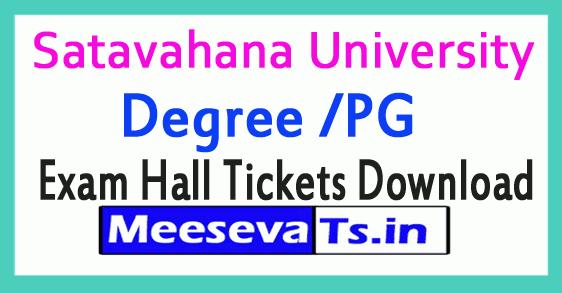 Satavahana University (SU) Degree /PGSupple Exam Hall Tickets Download
