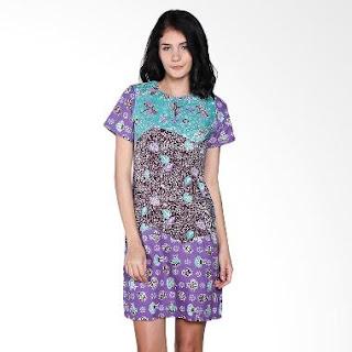 Gambar Dress Batik Etnik Modern Terbaru