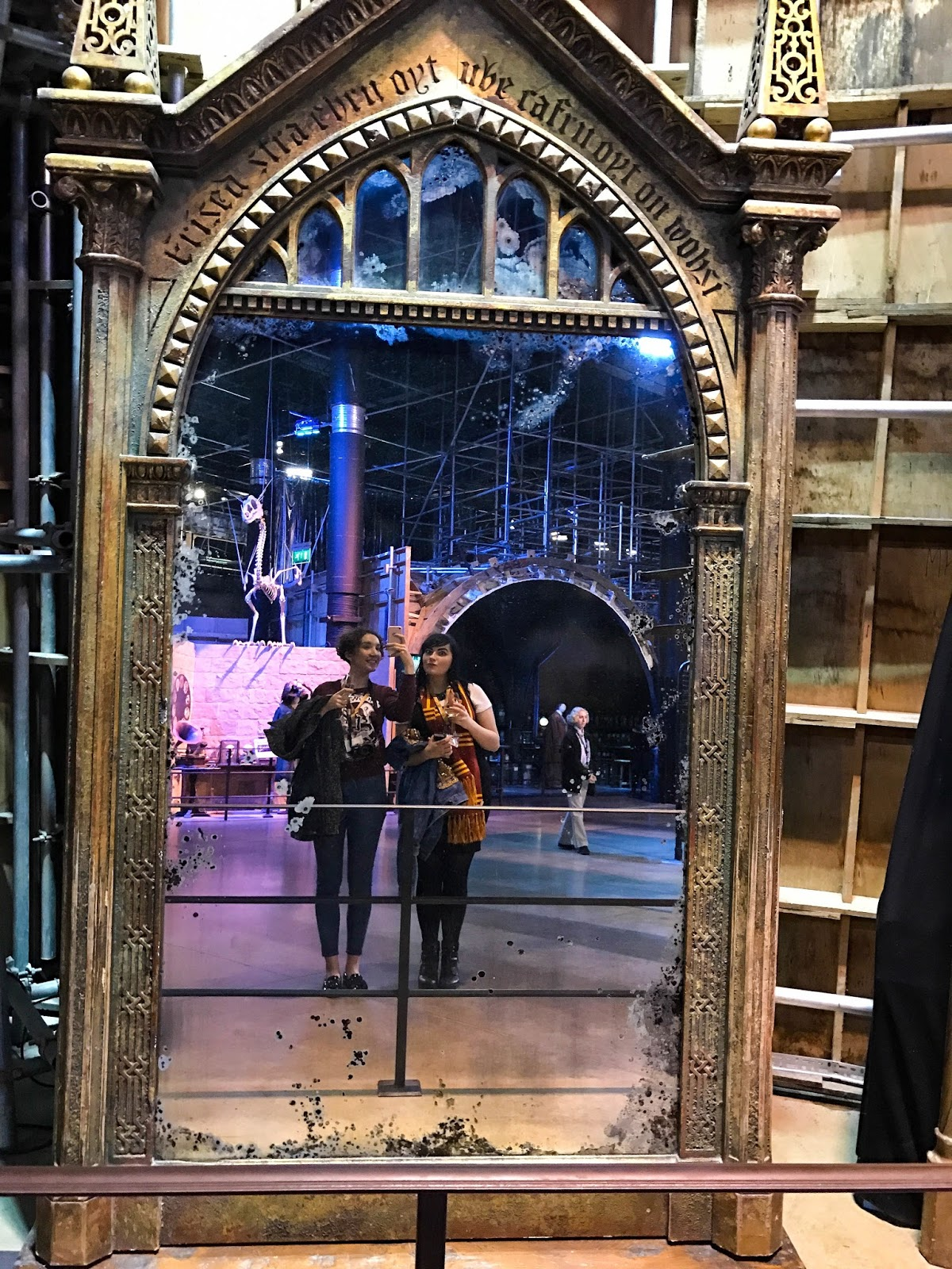 Mirror of Erised at Harry Potter Warner Brothers Studio Tour London