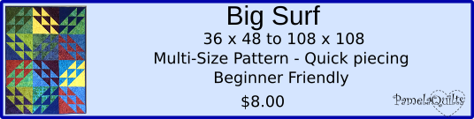 Big Surf Quilt Pattern