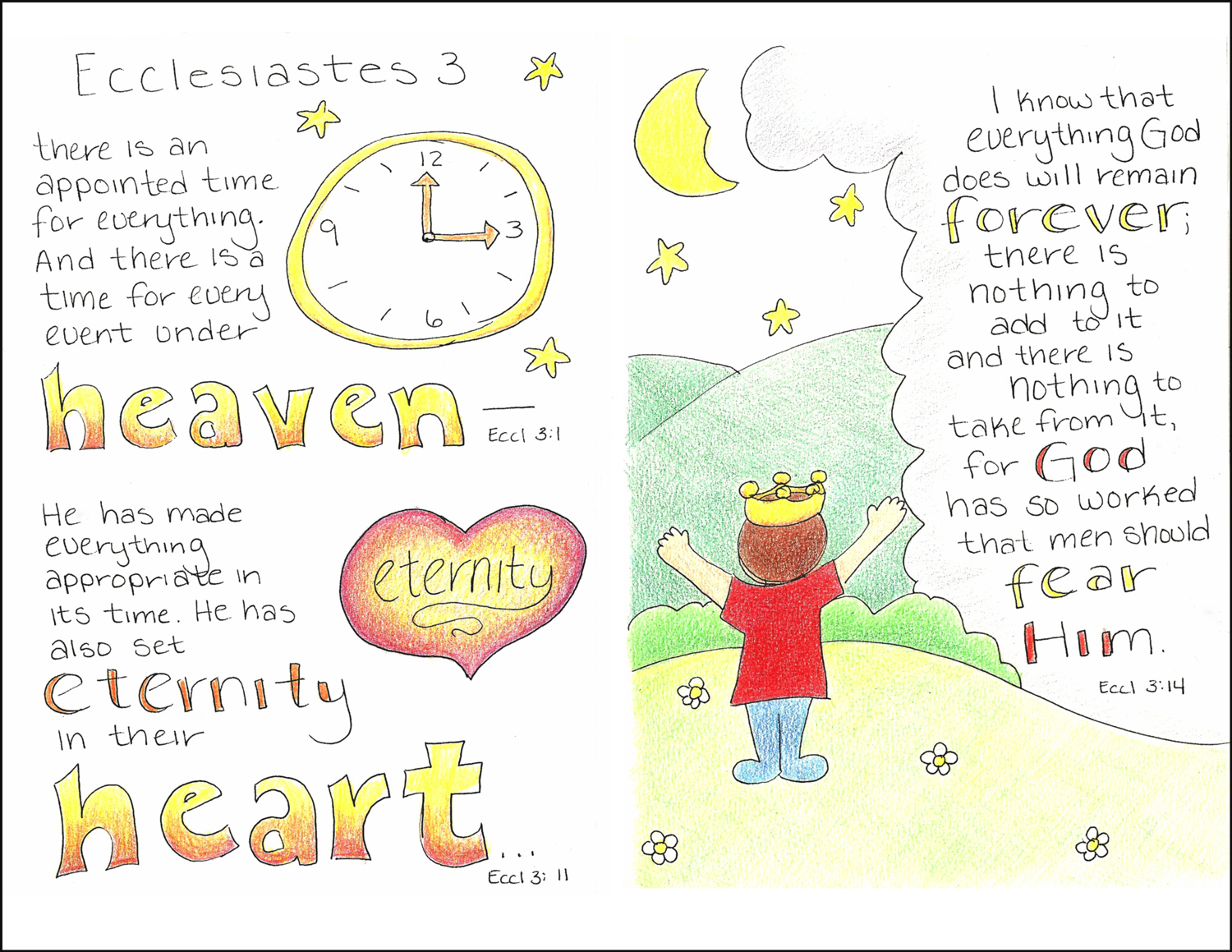 ecclesiastes 3 1 coloring pages - photo#15