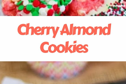 Cherry Almond Cookies #christmas #cookies