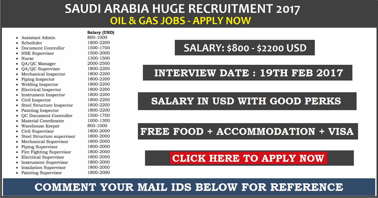 Urgent Recruitment: Saudi OIL & GAS Jobs | Apply NOW | All