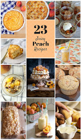 23 juicy peach recipes, perfect for celebrating National Eat a Peach Day!