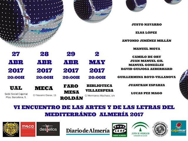 DE LAS ARTES Y DE LAS LETRAS DEL MEDITERRÁNEO - ALMERÍA 2017.