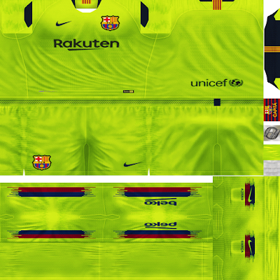 PES 6 Kits F.C. Barcelona Season 2018/2019 by FacaA/Ngel