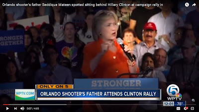 FFWN Orlando shooter's father Seddique Mateen spotted sitting behind Hillary Clinton at campaign rally