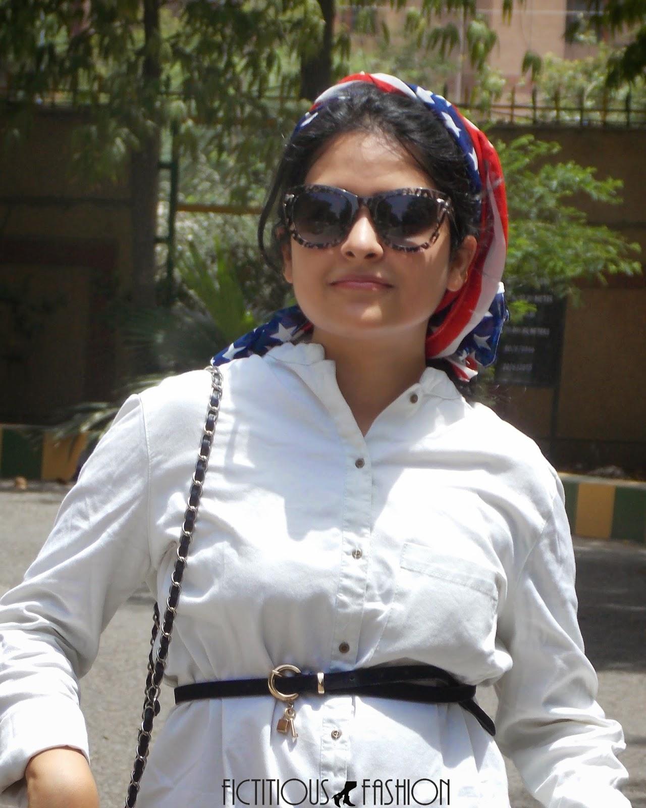 Fictitious Fashion: Being Americano: Denim shirt & Bandana