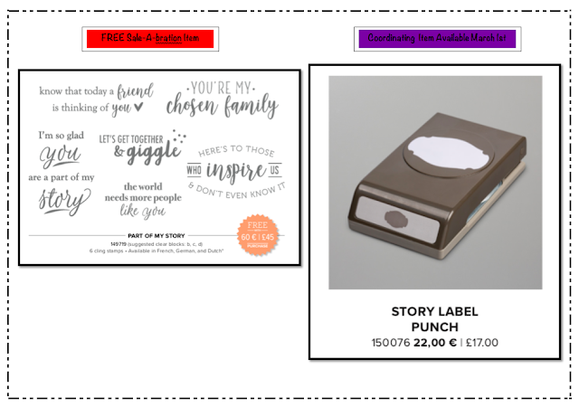 Nigezza Creates Stampin' Up! Story Label Punch