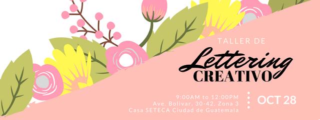 Evento en Facebook de TAller de lettering creativo