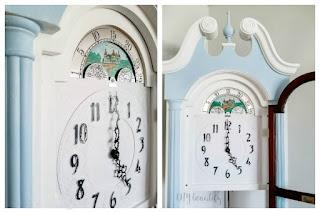 grandfather clock makeover