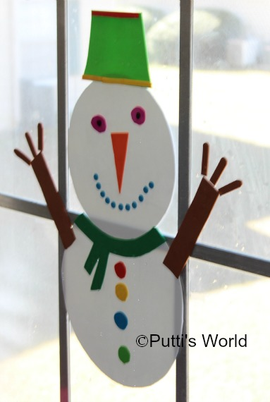 Craft Foam Snowman Kids Activity