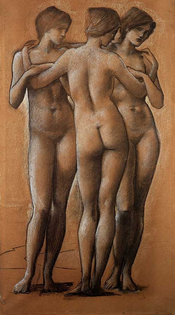 Three Graces, Edward Coley Burne-Jones, 1890-1896