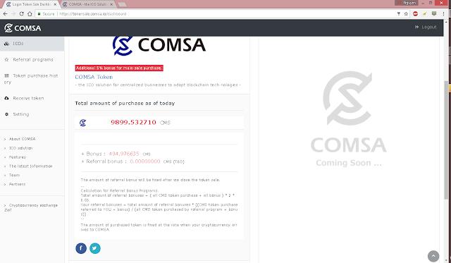 Dự án ICO COMSA -  ICO tiềm năng của Nhật Bản
