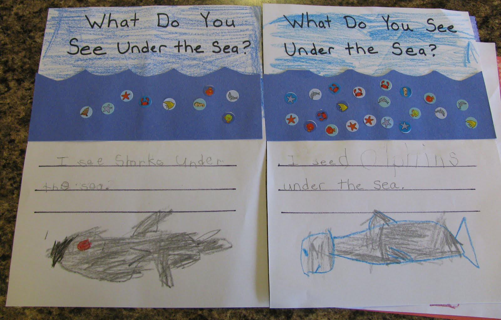 See What We Did Today What Do You See Under The Sea