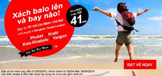 Khuyến mãi Air Asia 41 USD