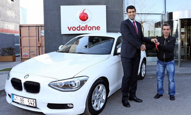 Vodafone Car winner in KBC