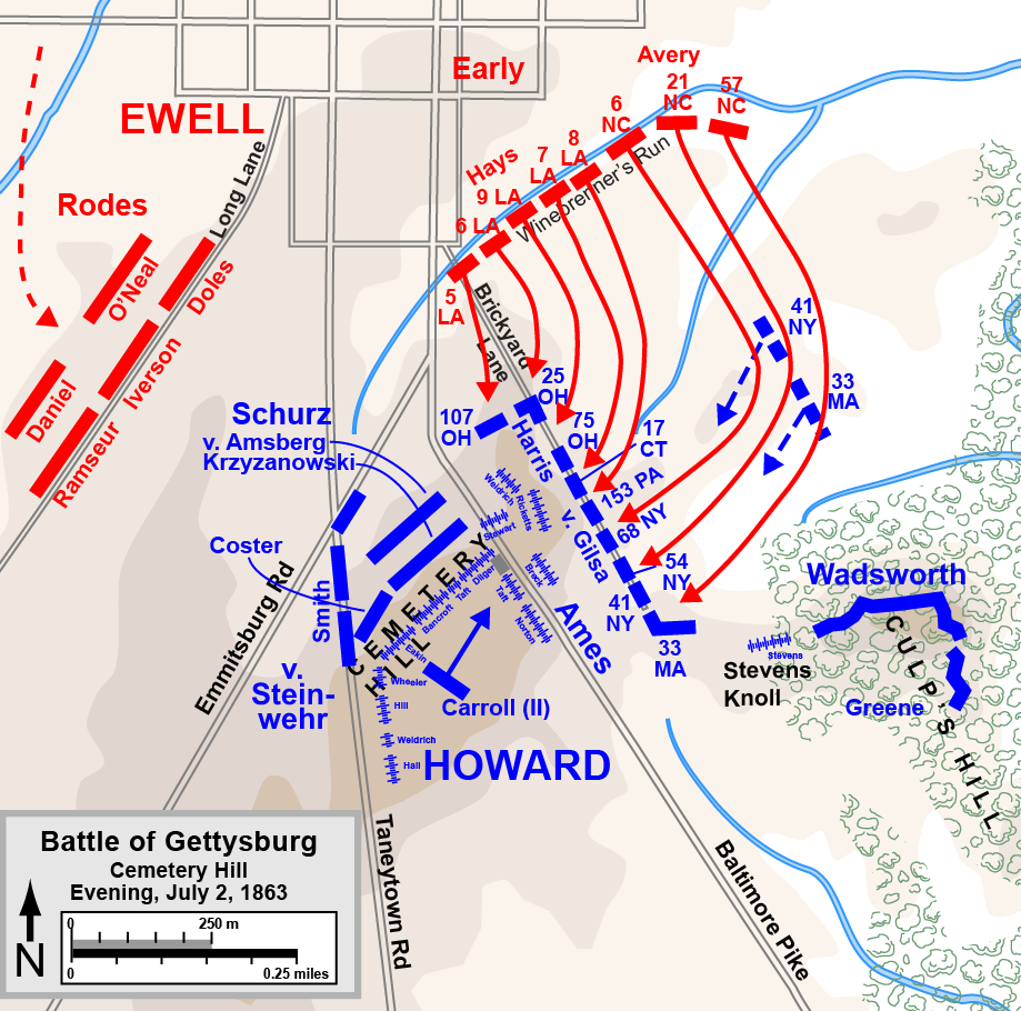 Gettysburg MapStillMost Of The Major Battles Of The American - Gettysburg on us map