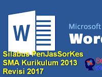 Silabus PenJasSorKes SMA Kurikulum 2013 Revisi 2017