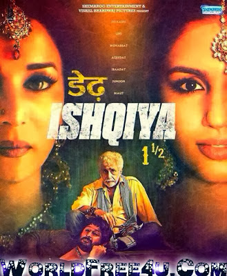 Poster Of Bollywood Movie Dedh Ishqiya (2014) 300MB Compressed Small Size Pc Movie Free Download worldfree4u.com