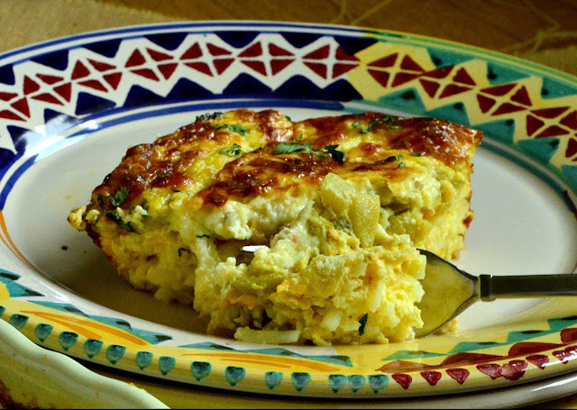 This overnight Mexican egg casserole is filled with green chilies, chorizos and cheese all on a bed of hash browns. Topped with beaten eggs and cream and refrigerated overnight, all this need is to be baked the next morning. And maybe some salsa, of course! #eggcasserole #brunch #Mexicanfood www.thisishowicook.com