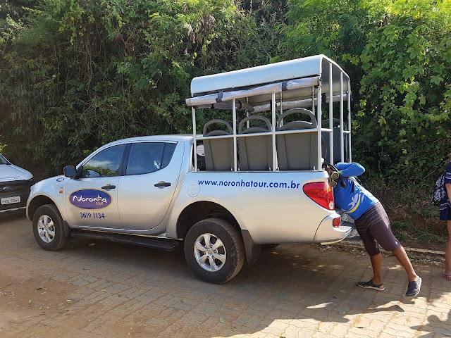 4x4 do passeio Ilha Tour - Fernando de Noronha