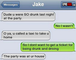 text message funny fail drunk at party