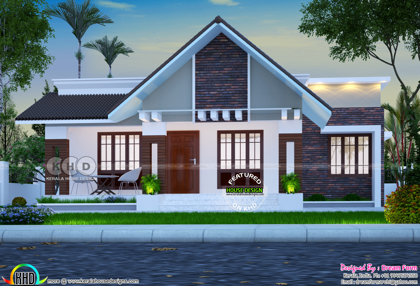 Superb low cost house plan kerala home design and floor for Low cost home plan