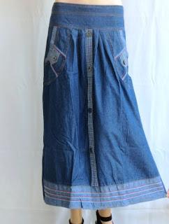 Rok Bahan Jeans  Kombinasi RM361