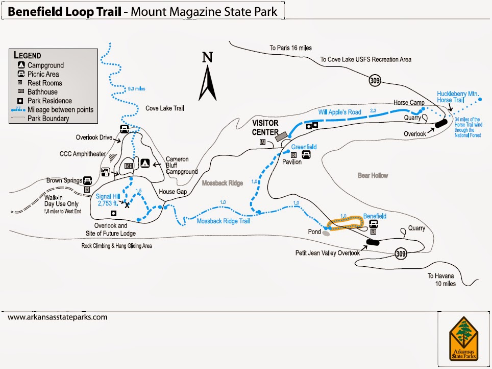 State Parks In Arkansas Map.Mount Magazine State Park Of The Week 5 Trails Of Arkansas