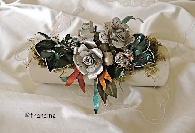 Francine bricole centre de table arrangement trois - Brico recup deco ...