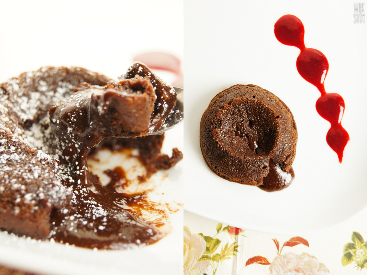 przepis, molten lava, ciasteczko czekoladowe, deser czekoladowy, płynne ciastko