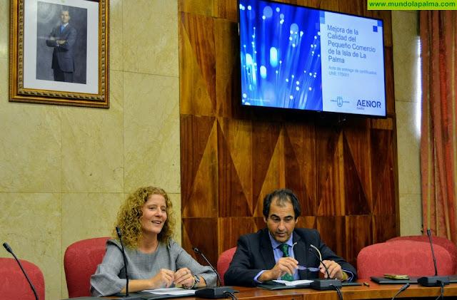 El Cabildo financia un programa de certificación de calidad para 33 comercios palmeros