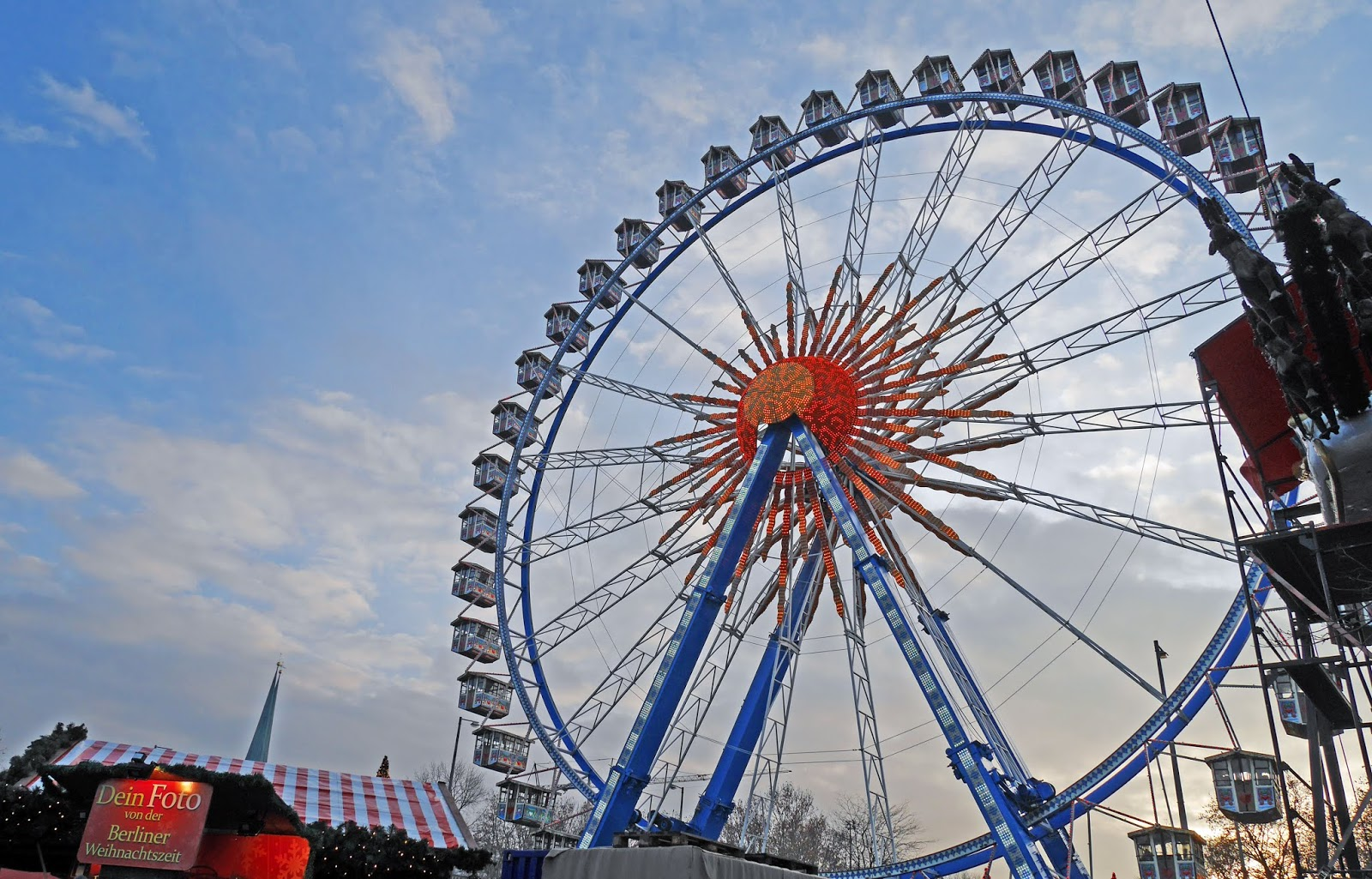 Ferris wheel at the Alexanderplatz Christmas Market in Berlin
