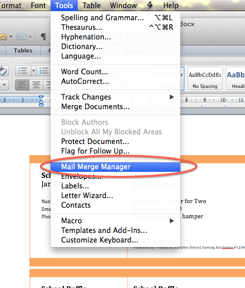 Create Numbered Raffle Tickets In Word For Mac 2011 – name